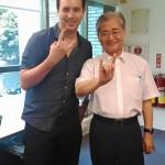 Sebastian Ang avec le Premier Ministre Taïwanais Mao Chi-kuo